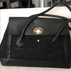 HELEN KAMINSKI Bag Leather & Raffia in Black